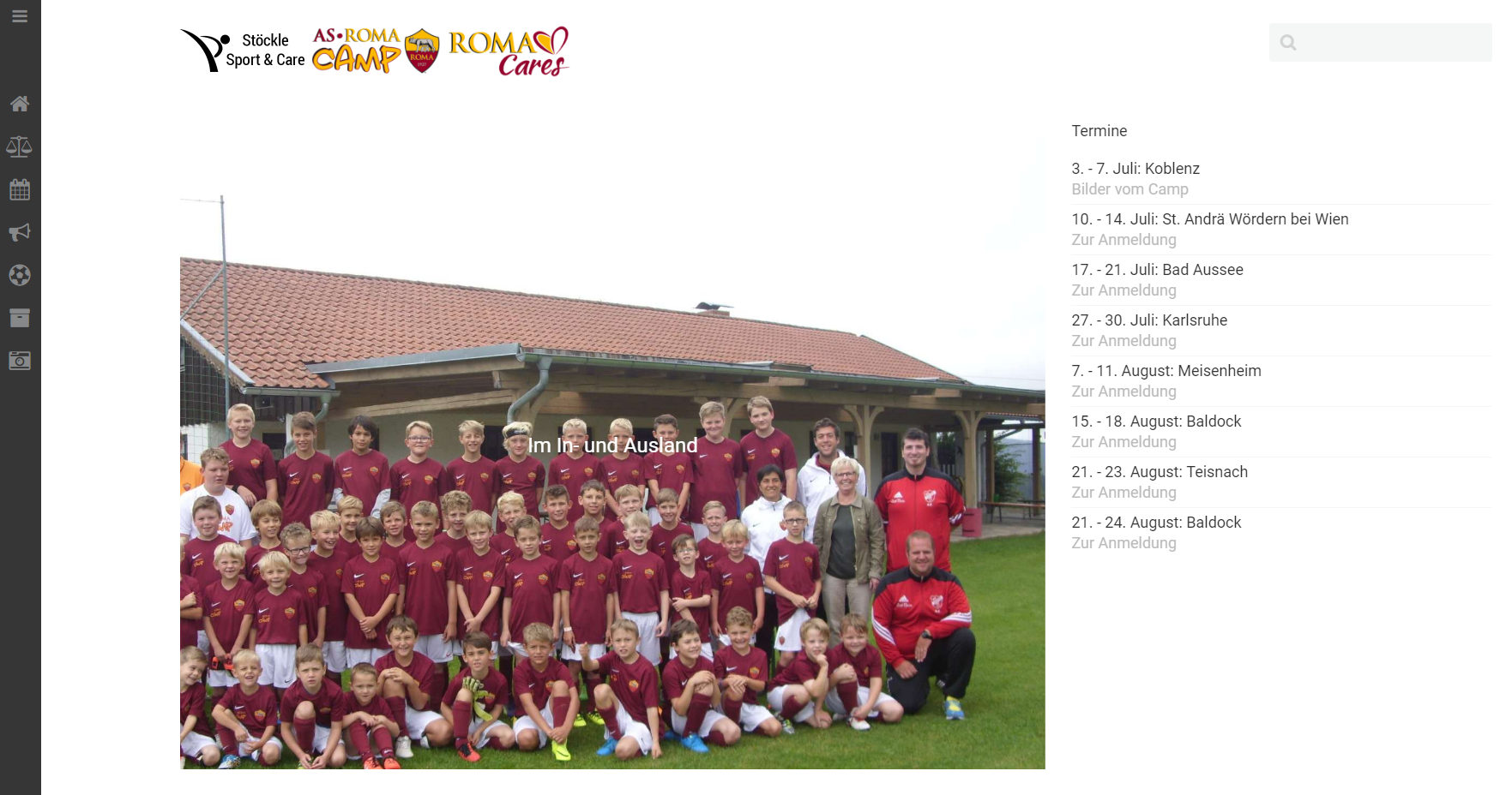 Stöckle Sports & Care - AS Roma Camps